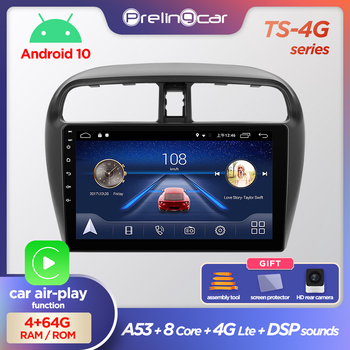 Prelingcar Android10.0 NO 2 din DVD Car Radio Multimedia Video Player GPS Navigation For Mitsubishi mirage attrage 2012-2018 DSP image