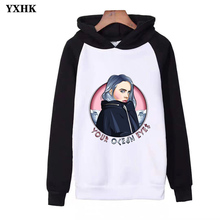 2019 Hot Sale Casual Fashion Streetwear Hoodies Billie Eilish Printed Women / Men Long Sleeve Hooded Sweatshirt
