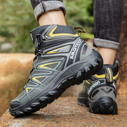 New Outdoor Waterproof Hiking Tactical Boots Non-slip Walking Climbing Hiking Shoes Mountain Sport Boots Hunting Mens Sneakers