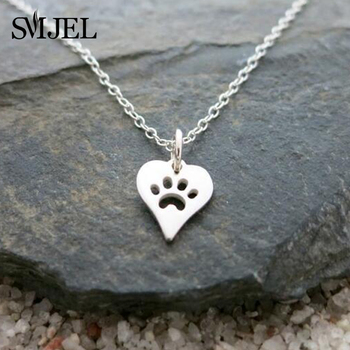 Tendy Heart Paw Pendants Necklaces for Women 2021Simple hummingbird Bar Pineapple Cactus Beauty and the Beast Necklace Collier image