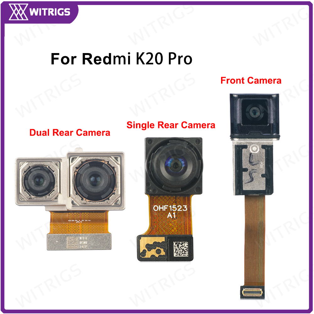 WITRIGS For Redmi K20 Pro Rear Front Camera Back Small Camera Big Main Selfie Camera Flex Cable Repair Replacement Parts
