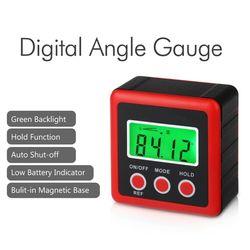 Digital Protractor Inclinometer Level Box Angle Finder Bevel Box W/Magnet Base
