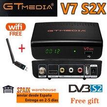 Receptor de satélite de fta 1080p gtmedia v7 s2x DVB-S2 com usb wifi gtmedia v7s2x atualização do receptor digital freesat v7s hd nenhum aplicativo