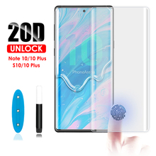 20D Note 10 Pro Screen protector UNLOCK WITH FINGERPRINT UV Glass film for Samsung S10 Plus 5G Tempered Protector