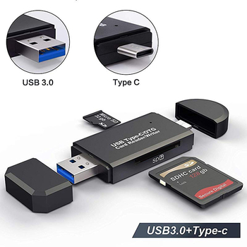 Lecteur de carte Micro SD OTG lecteur de carte USB 3.0 2.0 pour adaptateur USB Micro SD lecteur Flash lecteur de carte mémoire intelligente Type C Cardreader