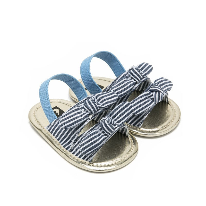 Infant Summer Bow Shoes Baby Girls Shoes Soft Sole No-slip First Walker Footwear