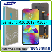 6.3 nouveau AMOLED pour SAMSUNG Galaxy M20 2019 SM M205 M205F LCD écran tactile numériseur assemblée pièces de rechange