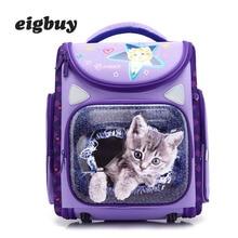Cat School Book Bags Waterproof Breathable Kids 3d Cartoon Children Orthopedic Backpacks Mochila Escolar