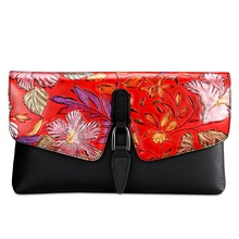genuine leather bag women floral cow leather shoulder bags 2020 new ladies crossbody bags chinese style girls chain bag