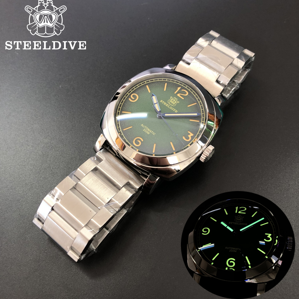 STEEL DIVE 2020 New Arrival Automatic Mechanical Watch C3 Super Luminous Steel Dive Watches Men 200m NH35 Mechanical Watch Men