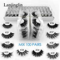 Gros 3d vison faux cils 20/30/40/50/100 paires moelleux vaporeux faux cils naturel longue maquillage cils extension en vrac
