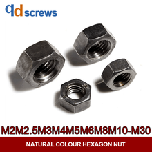 цены Class 4.8 M2M2.5M3M4M5M6M8M10M12M14M16M-M30 Natural colour Hexagon Nut