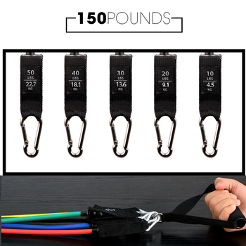 11/16Pcs Fitness Resistance Tube Band Yoga Gym Stretch Pull Rope Exercise Training Expander Door Anchor With Handle Ankle Strap 5