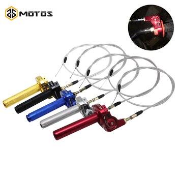 """ZS MOTOS de 50cc, 150cc, 125cc, 7/8 """", CNC, agarre del acelerador de aluminio, giro de acción rápida, acelerador de Gas, ajuste con Cable para Dirt Pit Bike"""
