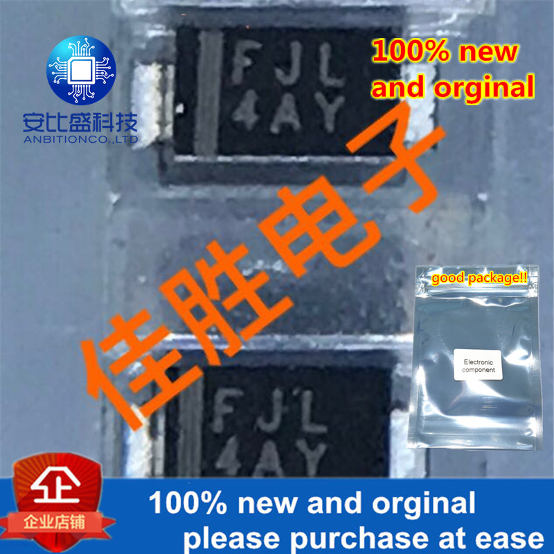 100pcs 100% New And Orginal RSFJL 0.5A600V Fast Recovery Diode SMAF Sik-screen FJL In Stock
