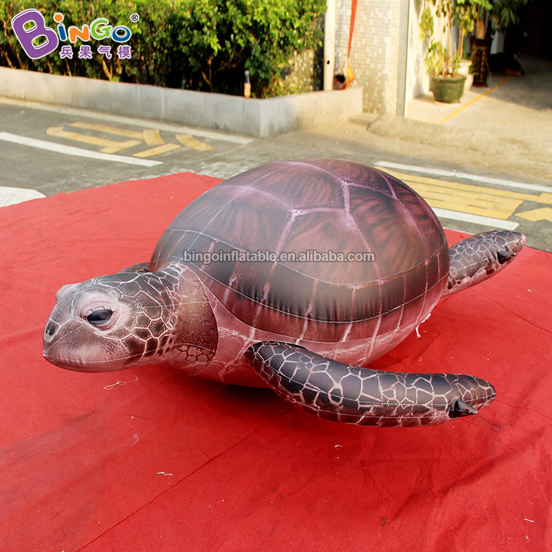 1.5M Length PVC Air-Tight Sea Turtle Replica Inflatable Marine Animals Model Toys Fun for Kids