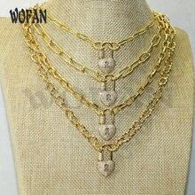 Ожерелье из 4 нитей с винтовой застежкой в форме замка микрозакрепкой