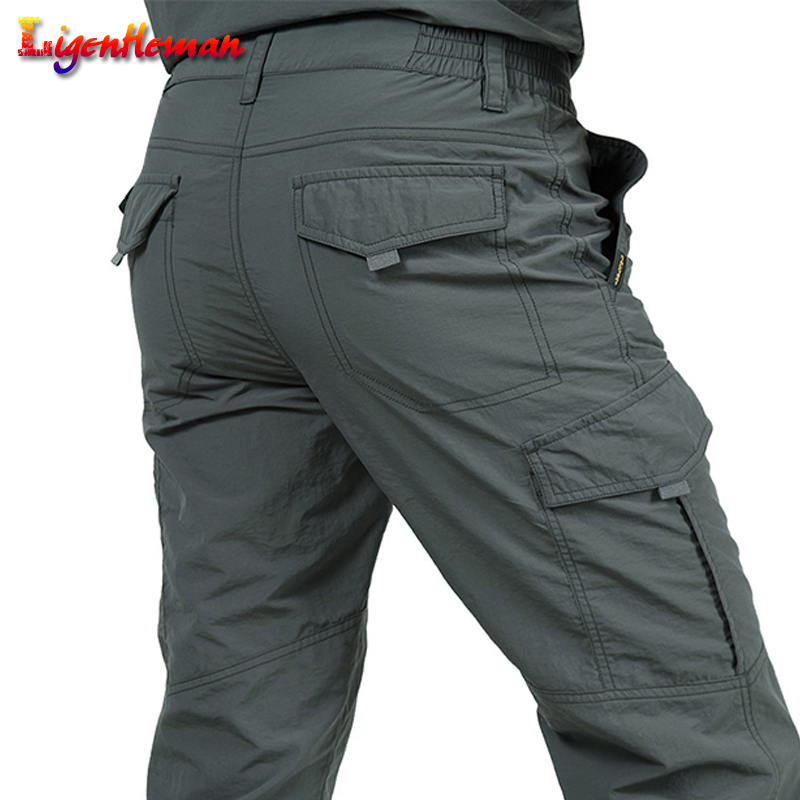 Men Trousers Summer Quick Dry Casual Pants Army Waterproof Trousers Men's Tactical Cargo Pants New Male Lightweight Trousers
