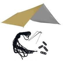3X3M Rain Fly Tent Tarp Waterproof Oxford Shelter Lightweight for Outdoor Camping Hammock Tent Garden Awning Canopy 3x3m awning waterproof tarp tent shade ultralight garden canopy sunshade for outdoor camping hammock rain fly beach sun shelter