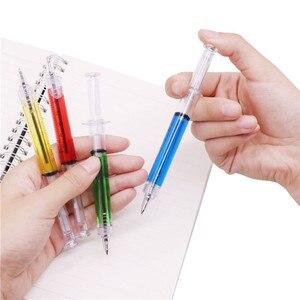 Image 2 - Stylo à bille seringue étrange, 0.7MM, 50 pièces, pointe dencre bleue, cadeau pour enfants et Promotion scolaire