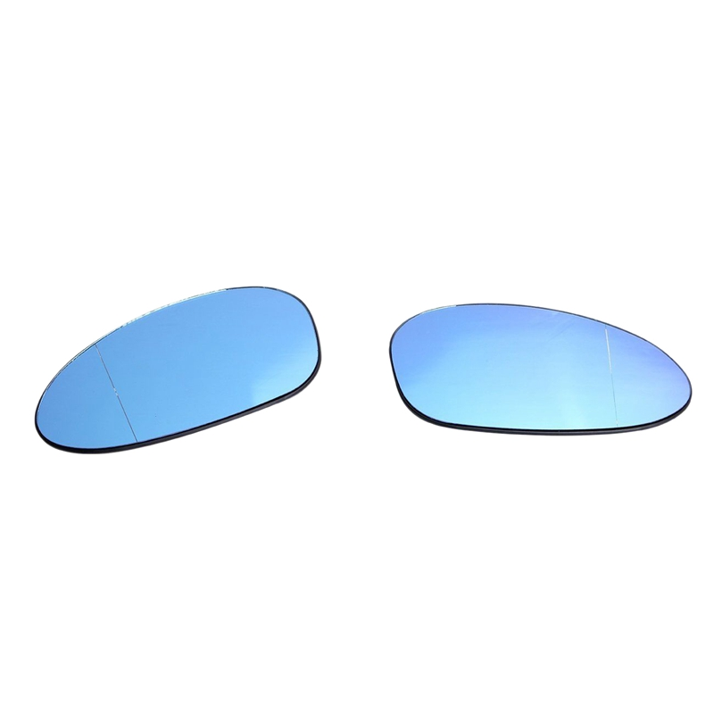 2Pcs Car Left and Right Wing Door Mirror Glass Lens Heating Anti Glare for Bmw M3 E46 01 06 Styling Mouldings     - title=
