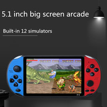 New updated X12 plus  handle game console  with 1800mah built-in 12 simulators 2000 games retro  system  support TV connection