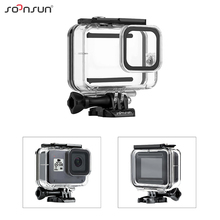 SOONSUN 45M Waterproof Housing Case for GoPro Hero 8 Black Diving Protective Underwater Dive Cover Case for Go Pro 8 Accessories