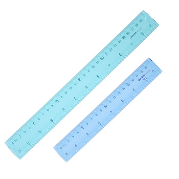 Competent Ruler Color Student Flexible Drawing Examination Ruler Roulette 30cm 20cm Ruler Office School Accessories image