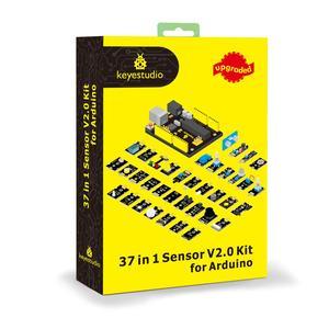 Image 1 - Новинка 2020! Keyestudio новый сенсорный стартовый комплект V2.0 37 в 1 коробка для Arduino UNO стартовый комплект