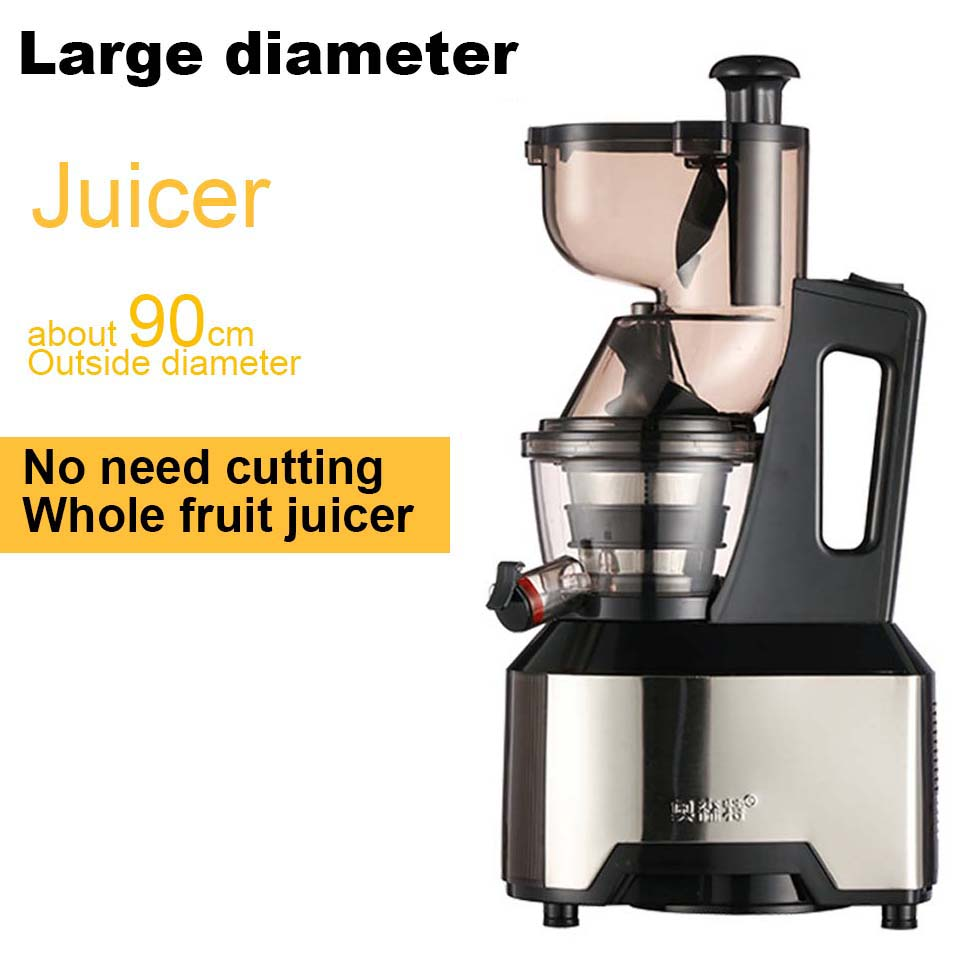 220v low speed Large Wide Mouth Feeding inlet Whole Apple orange Slow Juicer Soya-bean tofu Vegetable Juice Extractor Squeezer image