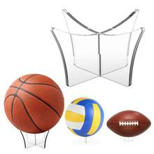 Acryl multifunctionele Basketbal Bal Stand Display Houder Bal Rack Ondersteuning Base Rugby Display Stand Voetbal Bowlingbal(China)