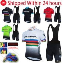 Summer Pro ASTANA black Cycling Jersey Set Mountain Bike Cycling Clothing Men's Pro Racing Bicycle Clothes Cycling Set