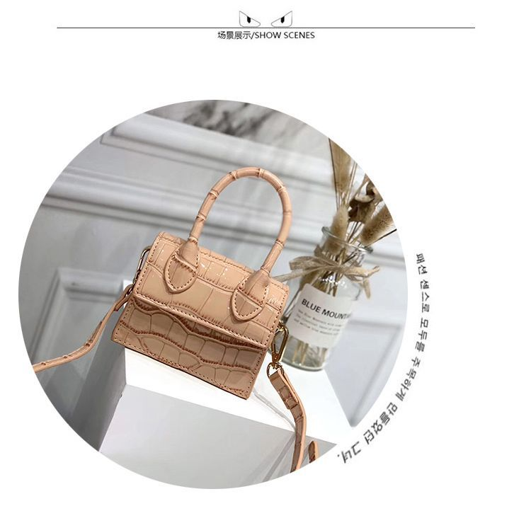 H54e26c924dc342ec9aa366adab0a702aa - Mini Small Square bag Fashion New Quality PU Leather Women's Handbag Crocodile pattern Chain Shoulder Messenger Bags