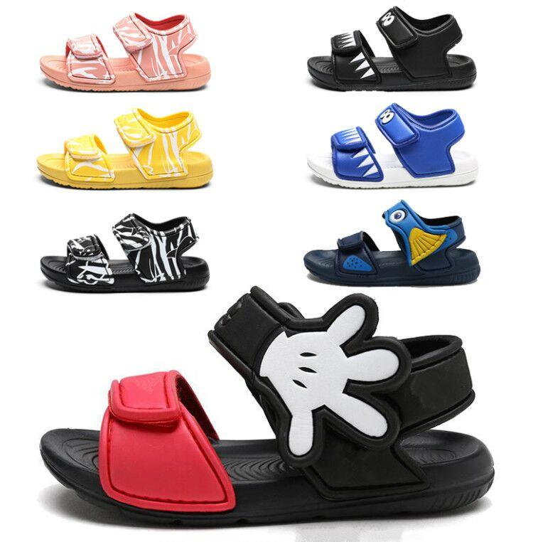2021 Kids Girls Sandals Summer New Non slip Beach Shoes Open Children's Sandals Wild Boys Student Children's Shoes