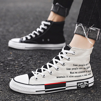Casual shoes men canvas tenis 2020 new arrival cross tied high top sneakers boys vulcan shoes unisex trainers wen hand painted unisex casual shoes custom design borderlands women men s high top canvas sneakers christmas birthday gifts page 2