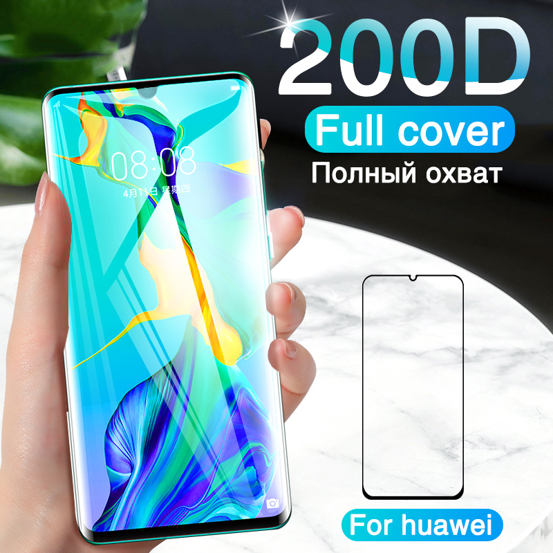 200D Curved Protective Glass For Huawei Mate 30 20 P30 Pro Screen Protector On The For Huawei Mate 30 20 Lite P30 Tempered Glass