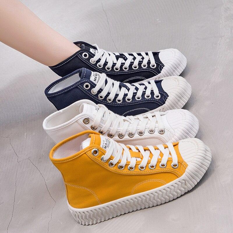 Ev ve Bahçe'ten Ayakkabı Rafları ve Organizatörleri'de Bisküvi ayakkabı kadın 2019 yaz yeni stil kore tarzı yuvarlak ayak kadın ayakkabı Trend çok yönlü rahat ayakkabılar nefes düz Ca title=