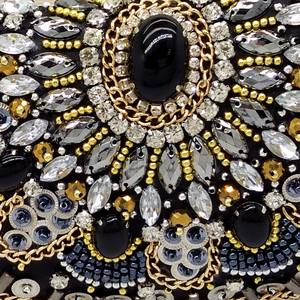 Image 4 - Boutique De FGG VINTAGEผู้หญิงสีดำBeadedคลัทช์กระเป๋าสุภาพสตรีกล่องโลหะClutchesงานแต่งงานค็อกเทลกระเป๋าถือกระเป๋าถือ