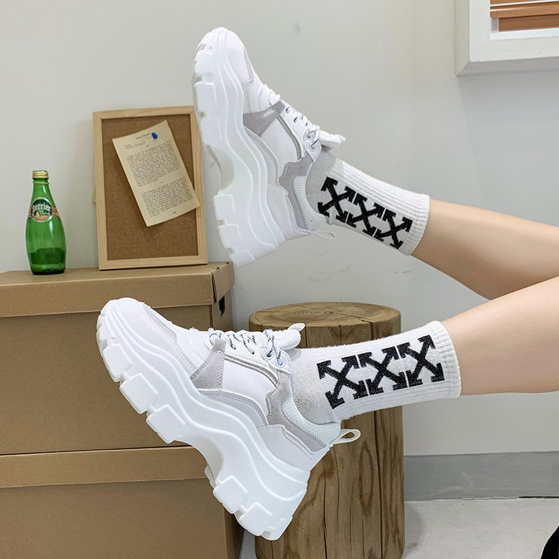 Women Fashion Platform Sneakers Tenis Female Chunky Casual Shoes 2020 Autumn Designers White Black Vulcanized Shoes Woman 1