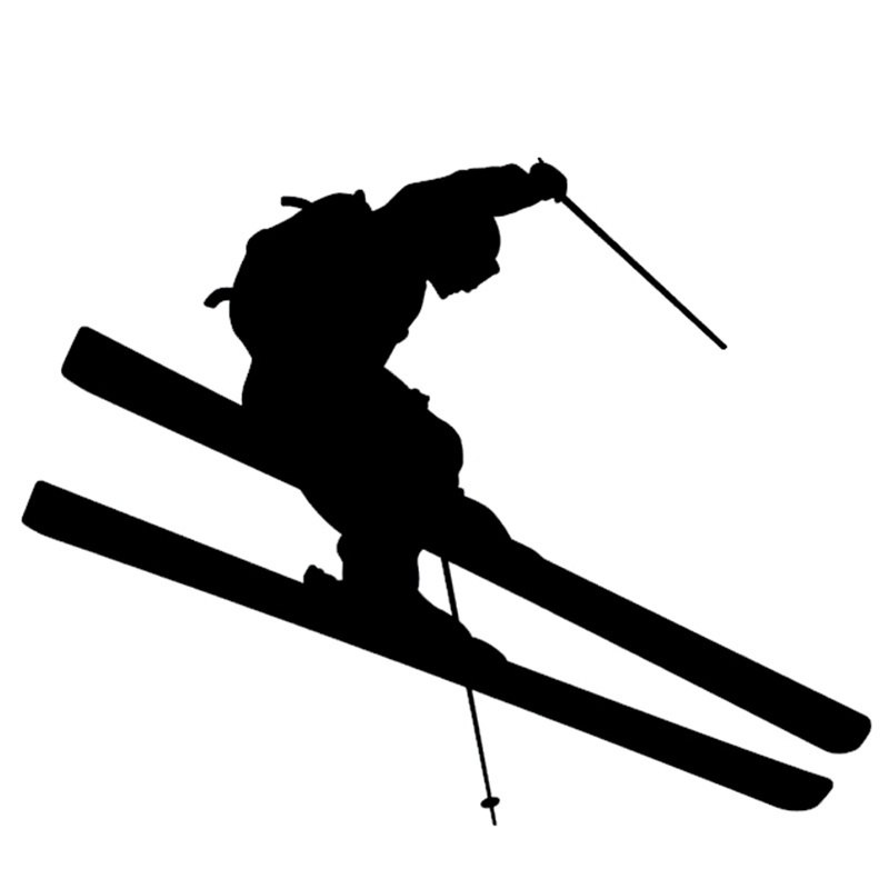 Ski Skier Skis Window Sticker