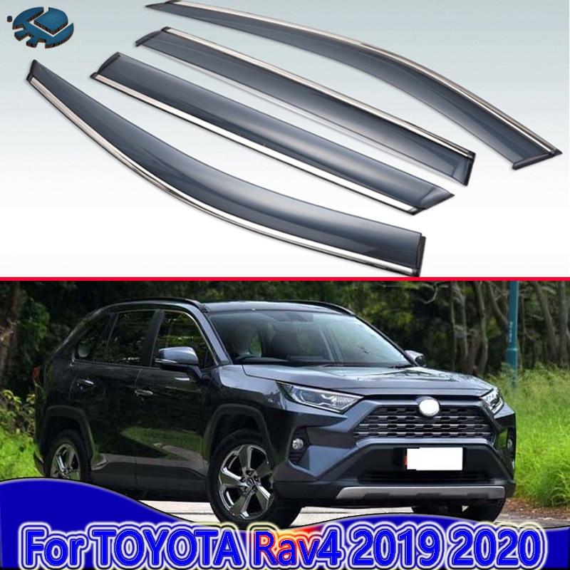 For TOYOTA Rav4 (XA50) 2019 2020 Car Accessories Plastic Exterior Visor Vent Shades Window Sun Rain Guard Deflector 4pcs
