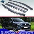 For TOYOTA Rav4 (XA50)2019 2020 Car Accessories Plastic Exterior Visor Vent Shades Window Sun Rain Guard Deflector 4pcs