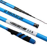 Caña de pescar telescópica Goture Super fibra de carbono dura 2 8 caña de mano corriente de potencia 3,6-6,3 M cañas de carpa tenkara vara de pesca