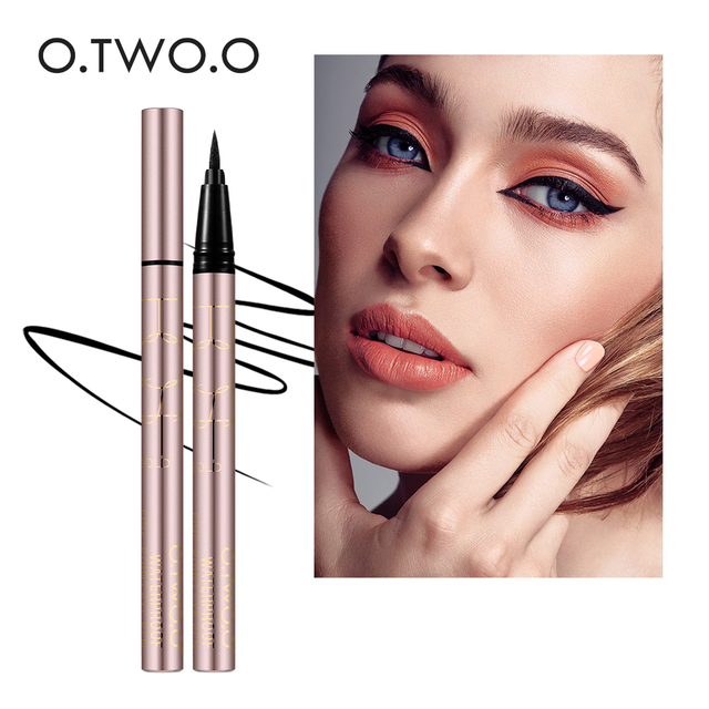 O.TWO.O 24 Hours Lasting Eyeliner Liquid Black Color Waterproof Eye Liner Pencil Smudge-Proof Cosmetic