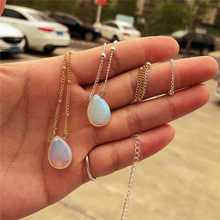 Gota de água lágrima pingente colar para as mulheres verão curto sereia frisado gargantilha colares praia moda jóias a064