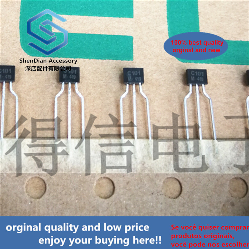 30pcs 100% Orginal New KRC101M C101 TO-92S EPITAXIAL PLANAR NPN TRANSISTOR Real Photo