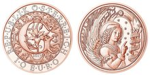 Austria 2017 Angel Series Gabriel Angel 10 Euro Commemorative Coin Genuine Euro Collection Real Original Coins недорого