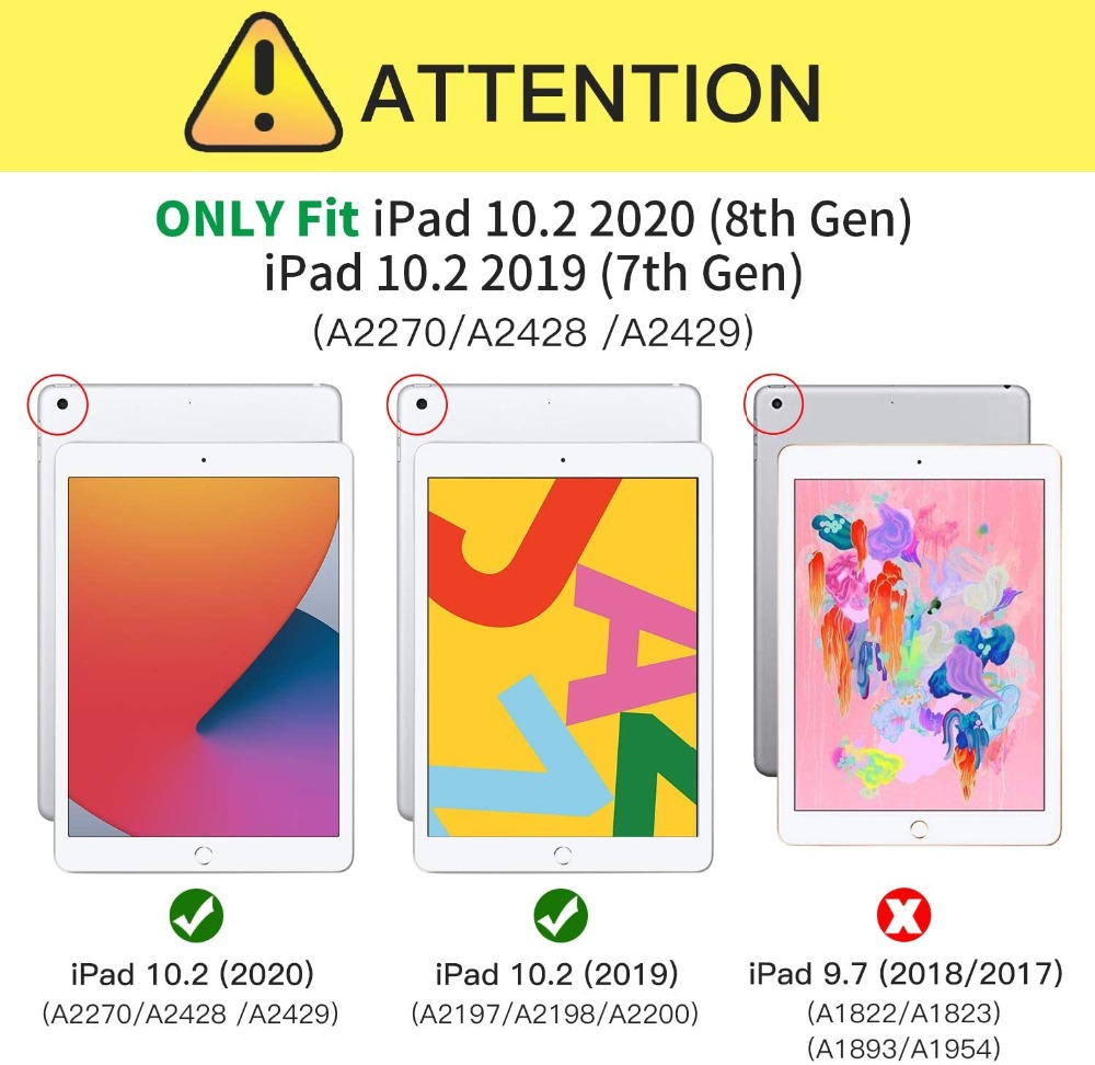 Hard Generation 10.2 Case Pencil Holder with 8th iPad Pattern For Tire Shockproof 2020