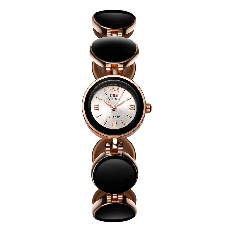Новинка 2019, хит продаж, брендовые наручные часы SOXY из розового золота, простой стиль, женские кварцевые часы, модные дизайнерские женские