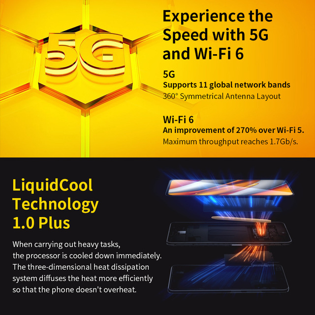 "Global Version POCO F3 5G Smartphone Snapdragon 870 Octa Core  6.67""120Hz E4 AMOLED Display 6GB 128GB/8GB 256GB NFC 33W Charger 2"